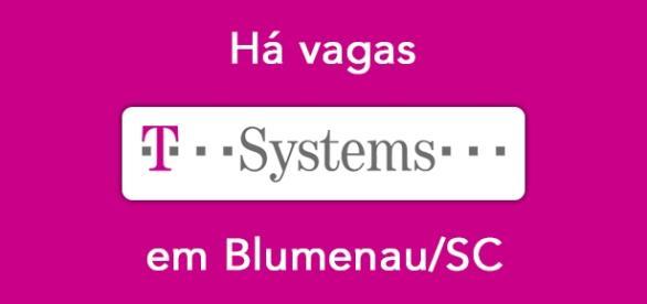 Vagas na T-Systems em Blumenau/SC.