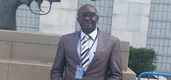 Gambia's Deputy Ambassador to the UN Samsudeen Sarr / Image via SMBC News