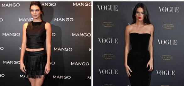 Kendall Jenner fazendo sucesso no mundo da moda