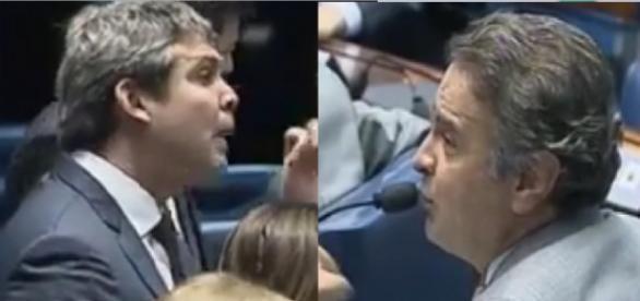 Lindbergh Farias e Aécio Neves - Foto/Montagem