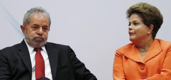 Lula e Dilma Rousseff no Palácio do Planalto