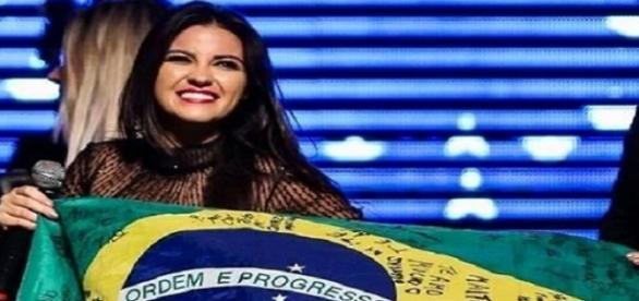 Maite Perroni no Brasil. Foto: Reprodução.