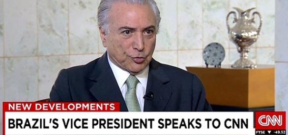 Michel Temer em entrevista para a CNN