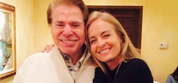 Silvio Santos e Angélica - Imagem do Facebook