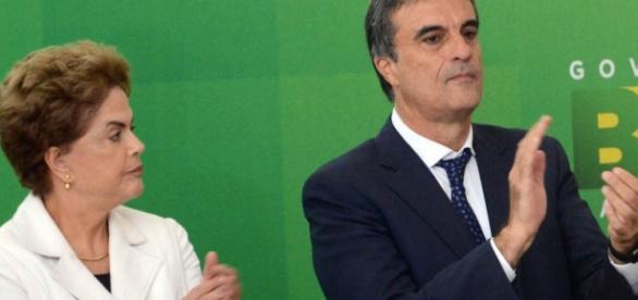 Dilma Rousseff e José Eduardo Cardoso - Foto/Montagem
