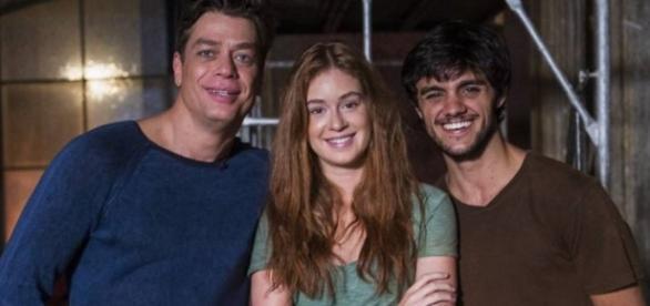 Fábio Assunção, Marina Ruy Barbosa e Felipe Simas