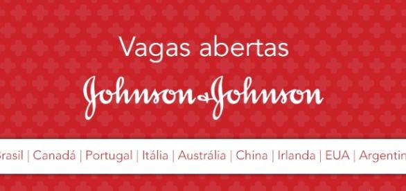 Johnson & Johnson está contratando em vários países.