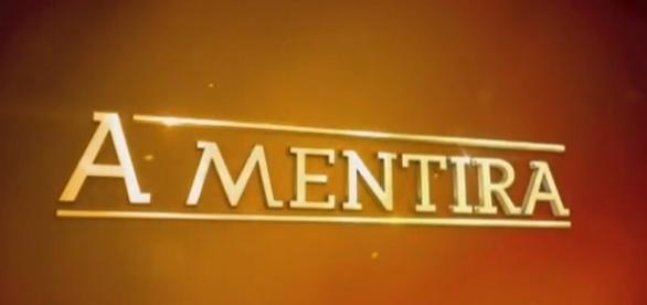 Novela está sendo reprisada no SBT/ Imagem: Logo de 'A Mentira'