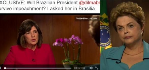 Âncora da CNN detona presidente Dilma - Foto/Montagem