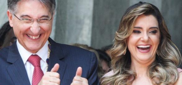 Pimentel e esposa - Imagem da internet