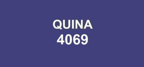 Quarta-feira: Sorteio do prêmio Quina 4069.