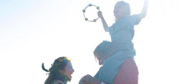 Annalise Basso, Viggo Mortensen e a pequena Shree Crooks