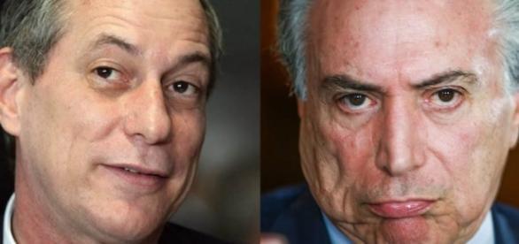 Ciro Gomes e o vice-presidente Michel Temer
