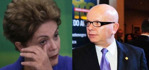 Dilma Rousseff e Marcelo Tas se estranham