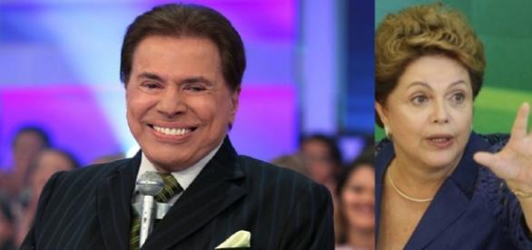 Silvio Santos e Dilma Rousseff - Foto/Montagem