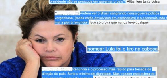 Dilma desperta a ira dos internautas - Foto/Montagem