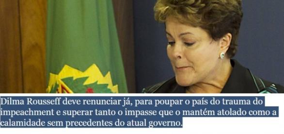 Dilma Rousseff é alvo de editorial da Folha de São Paulo