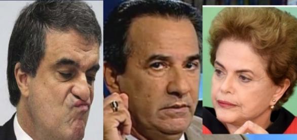 Cardozo, Malafaia e Dilma - Foto/Montagem