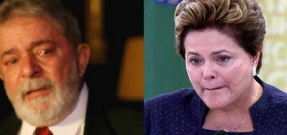 Lula e Dilma choram - Foto/Montagem