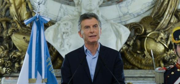 Presidente, Mauricio Macri, en conferencia de prensa.