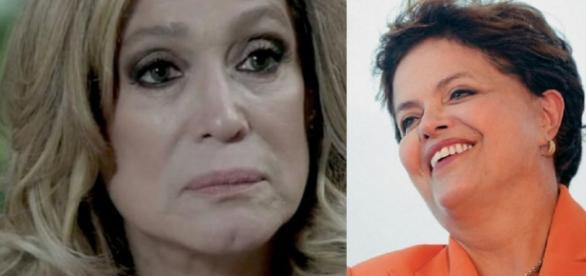 Susana Vieira e Dilma Rousseff