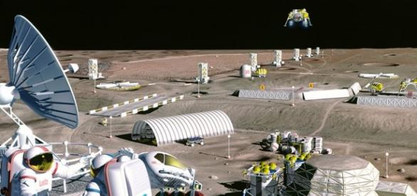Moon colony concept (Credit NASA)