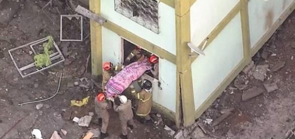 A explosão aconteceu na madrugada desta terça-feira (Foto: Reprodução/TV Globo)