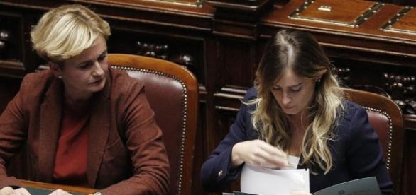 L'ex ministro Guidi e Maria Elena Boschi