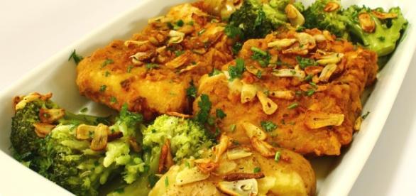 Um delicioso Bacalhau à Lagareiro de comer e chorar por mais.