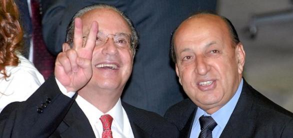 Maluf, ao lado de correligionário do PP: votará pelo impeachment?