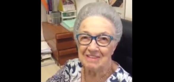 Anna Spina Finotti em vídeo (Reprodução)