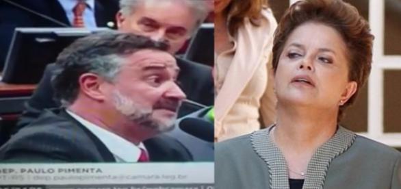 Deputado Paulo Pimenta e Dilma - Foto/Montagem