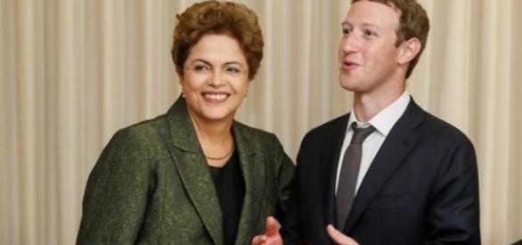 Dilma Rousseff e criador do Facebook