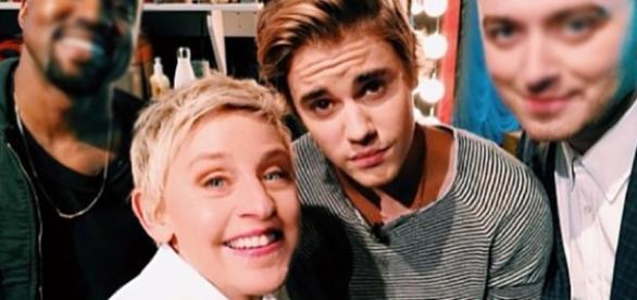 Ellen DeGeneres e Justin Bieber (Foto: Instagram)