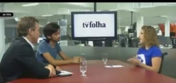 Debate entre Carina e líder do MBL (Reprodução-Facebook)
