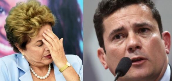 Dilma prevê ofensiva de Moro - Foto/Montagem