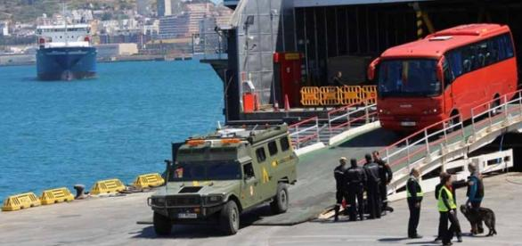 Ejercicio en Ceuta. Fotos: Comgeceu.