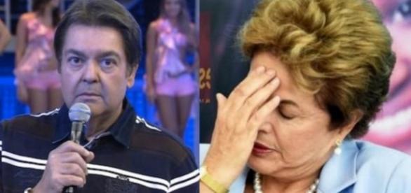 Faustão e Dilma Rousseff - Foto/Montagem