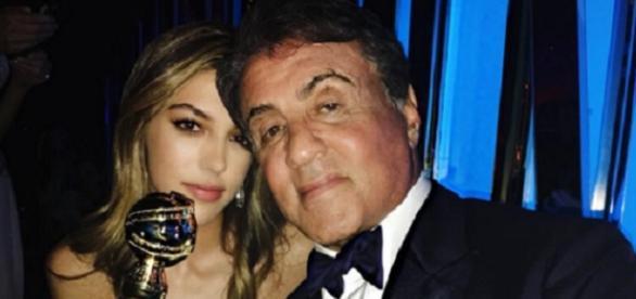 Sistine Rose Stallone y su padre Silvester