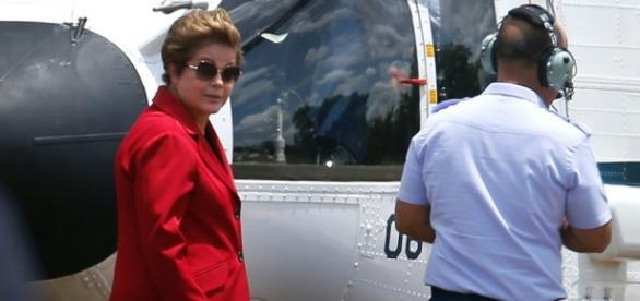 Dilma e jatinho da FAB - imagem do Google