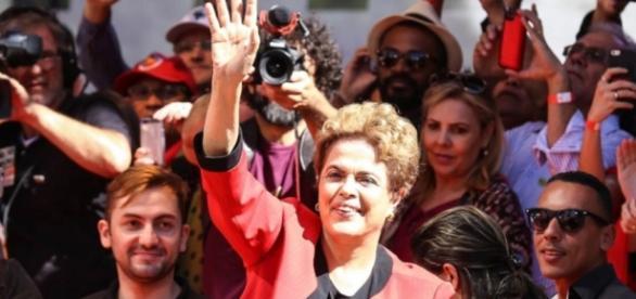 Dilma Rousseff em evento da CUT