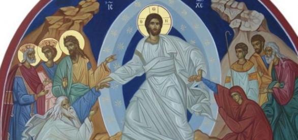 Icoană cu Învierea Domnului IIsus