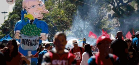 Manifestação da CUT em São Paulo