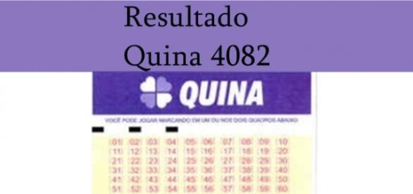 Resultado do jogo da Quina 4082