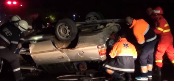 Teribil accident în Noaptea Sfântă lângă Dej