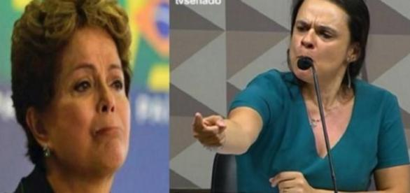 Dilma Rousseff e Janaína Paschoal - Foto/Montagem