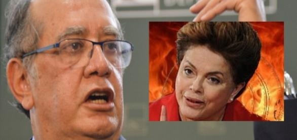 Gilmar Mendes e Dilma - Foto/Montagem