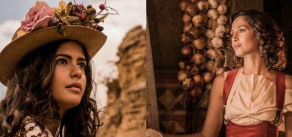 Júlia Dalavia à esquerda; Camila Pitanga à direita