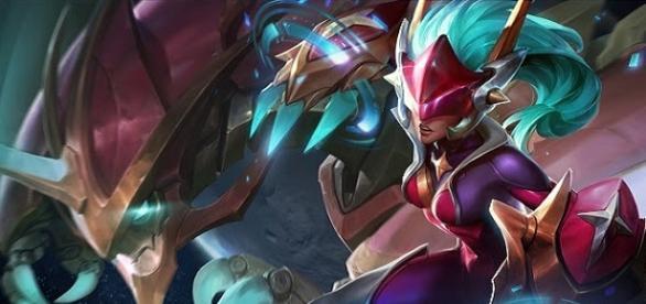 La nueva skin de Shyvana; Super Galaxy Shyvana