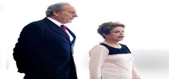 Lewandowski junto com Dilma Rousseff
